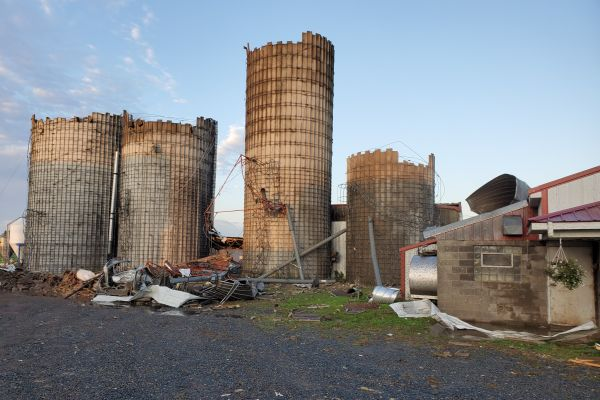 Silos after the September 24th tornado