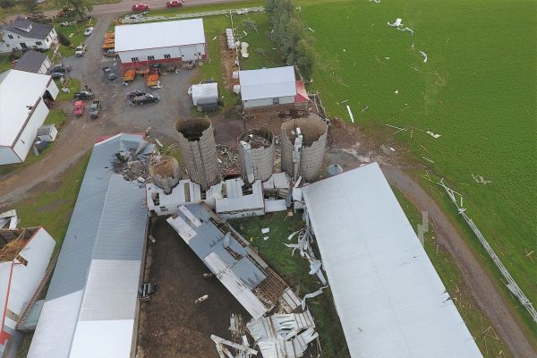 Aerial view of September 24th tornado
